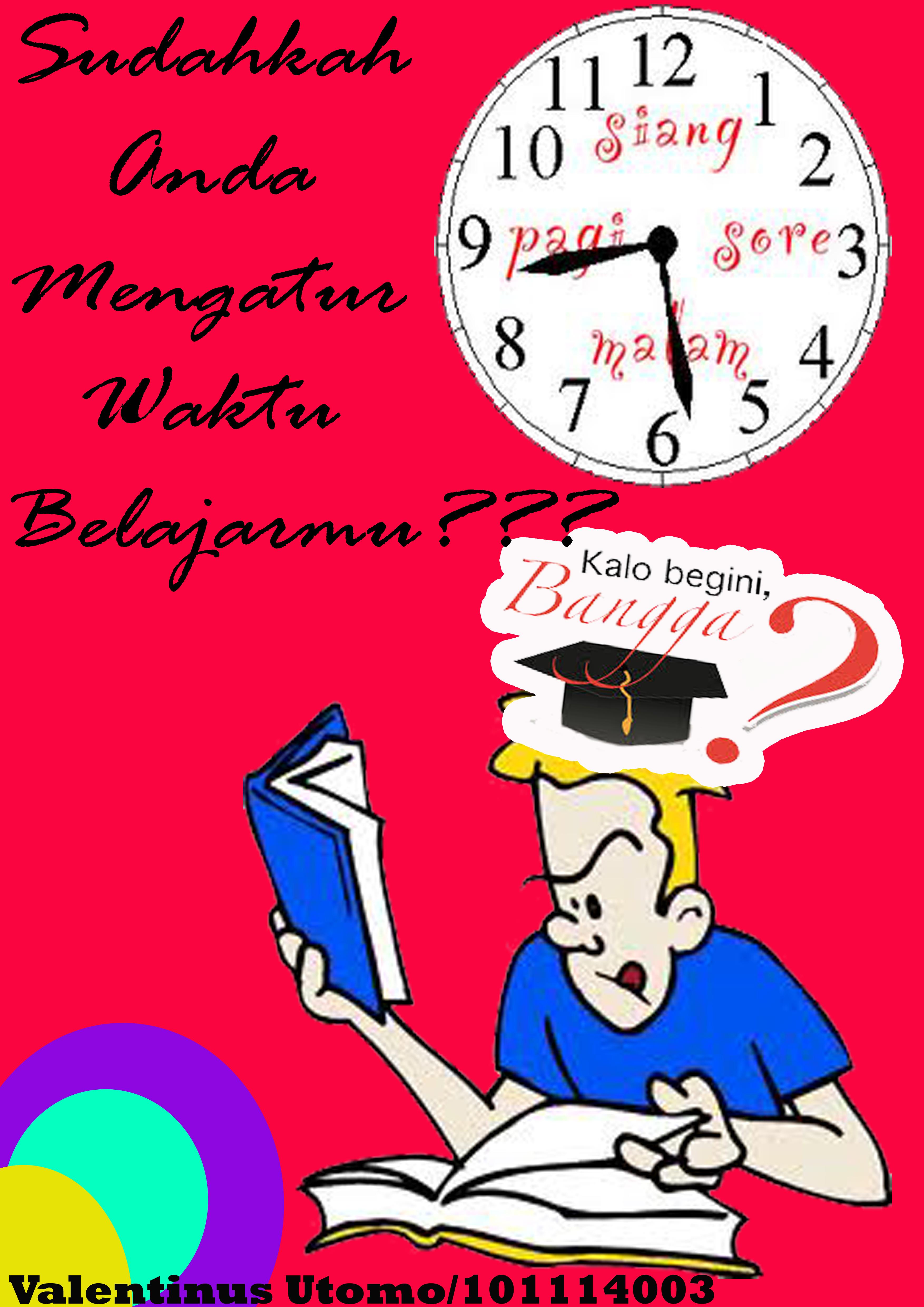 Poster Manajemen Waktu Belajar Utomovalentinus